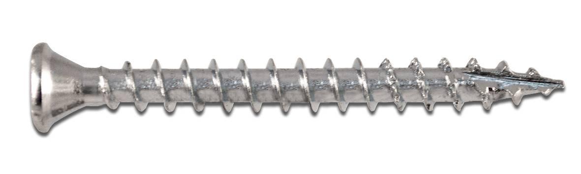 Wofix 0340941 Spaanplaatschroef (Speciaal voor Draai/Kiepbeslag) PZ2 Verzinkt - 4.0 x 40 mm (7 mm kop) (200 stuks)