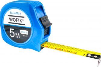 Wofix 7291620 Rolmaat BlueMax kunststof met gecoate stalen band 3M - bandbreedte 16mm