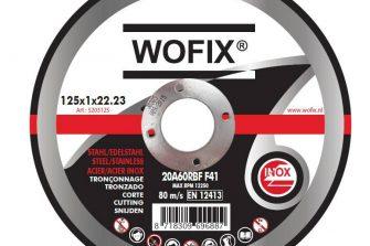 Wofix 5203125 Doorslijpschijf inox rvs/staal - 125x1,0x22,23 mm