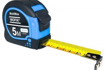 Wofix 7291642 Rolmaat MultiMax rubber met magnetisch uiteinde en gecoate stalen band 10M - bandbreedte 25mm