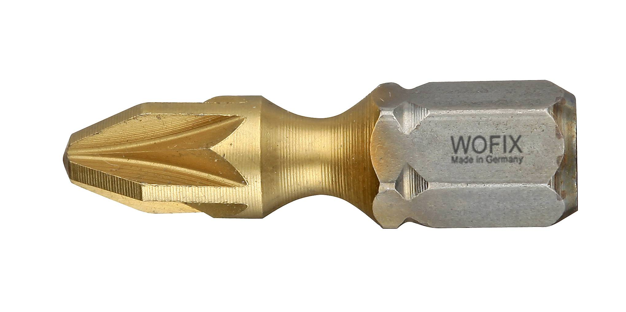 Wofix 7337225 Titanium Torsion Pozidrive bit - PZ2 x 25 mm