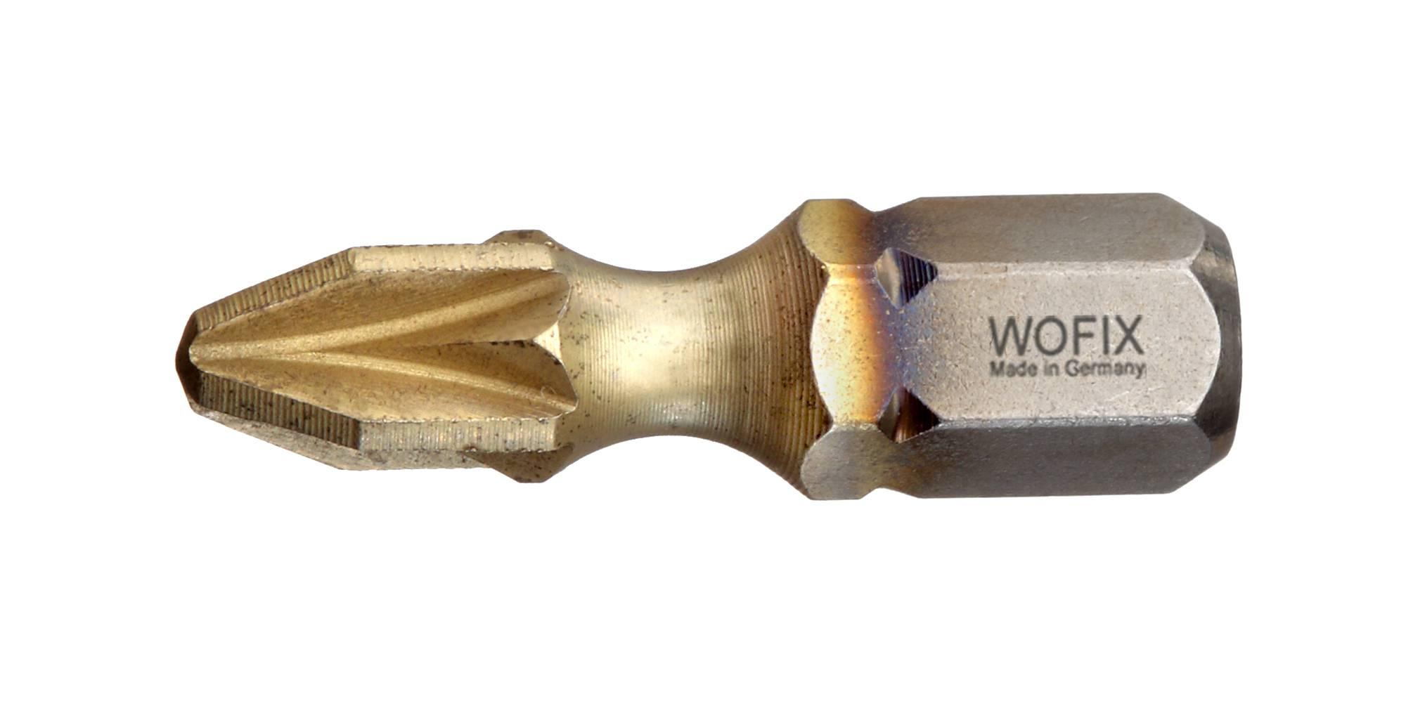 Wofix 7336225 Titanium Zirconium Pozidrive bit - PZ2 x 25 mm