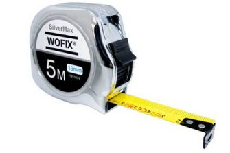 Wofix 7291633 Rolmaat SilverMax verchroomd met gecoate stalen band 5M - bandbreedte 19mm