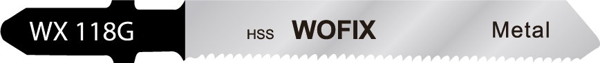Wofix 5120048 / WX118G Decoupeerzaagblad voor zeer dun staal en blik (5 stuks)