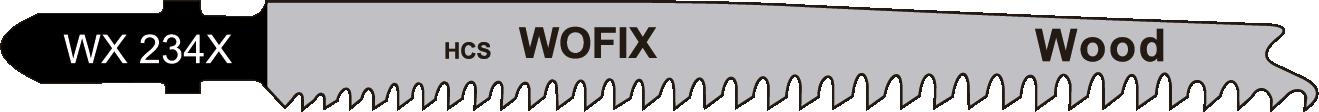 Wofix 5120028 / WX234X Decoupeerzaagblad voor hout en kunstof (5 stuks)